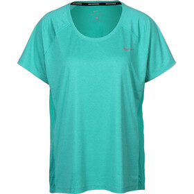 Nike Dry Miler T-shirt Dames, turbo green/heather